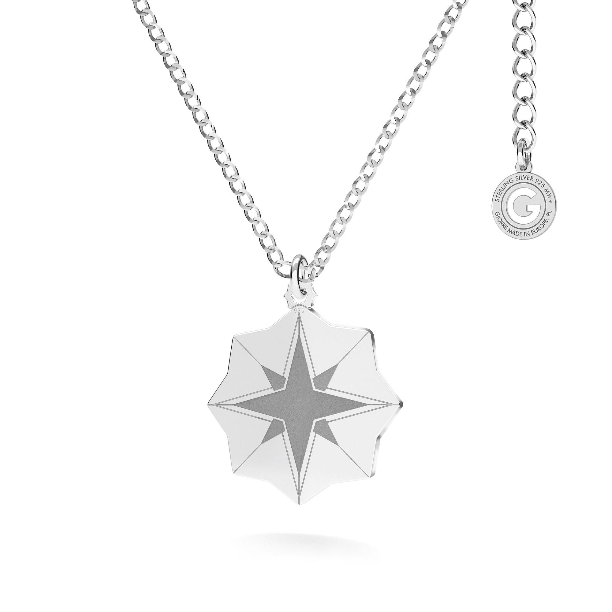 Naszyjnik medalion gwiazda MON DÉFI srebro 925
