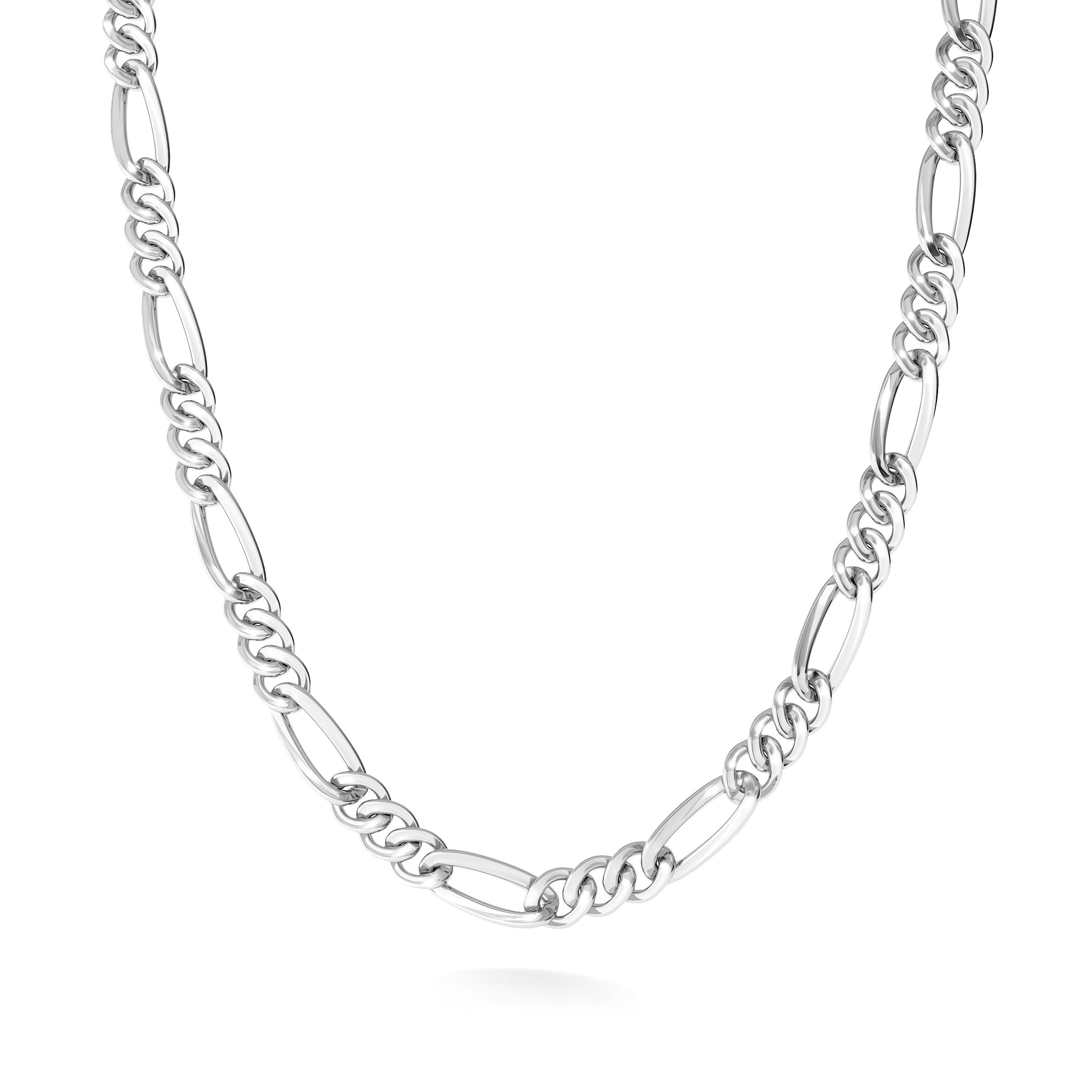 łańcuszek splot figaro Mon Defi, srebro 925