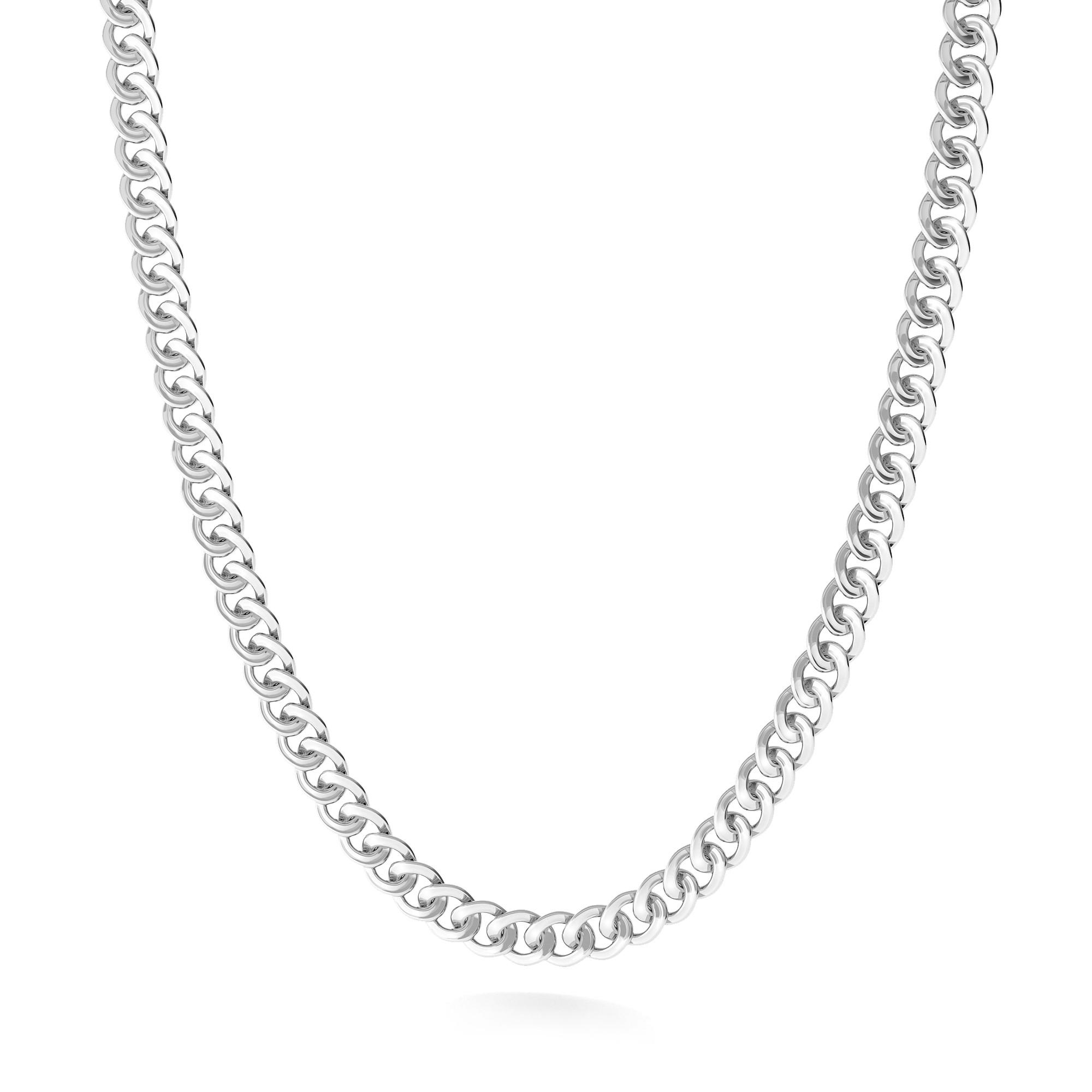 Łańcuszek splot pnacerka dmuchana Mon Defi, srebro 925