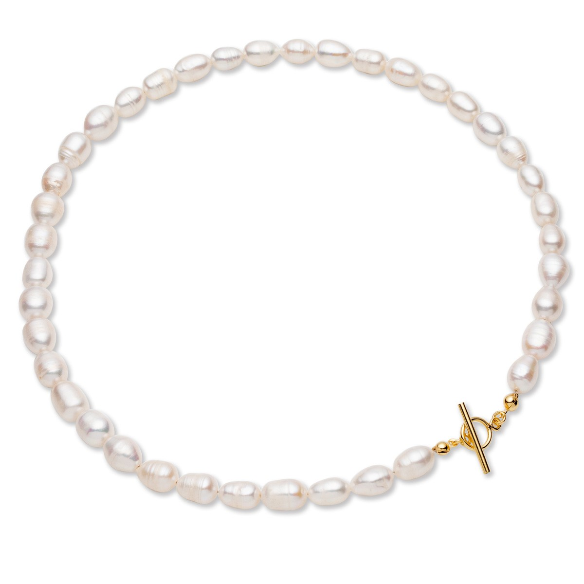 Flexible white freshwater pearls, sterling silver 925