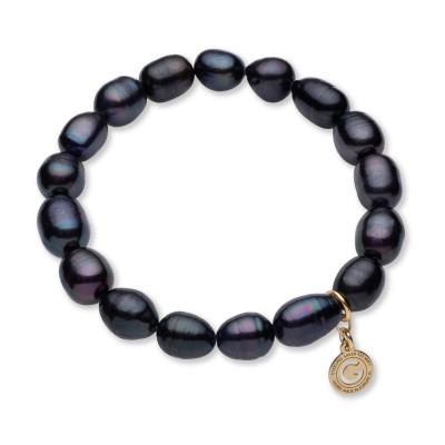 Bracelet en perles blanches, argent sterling 925