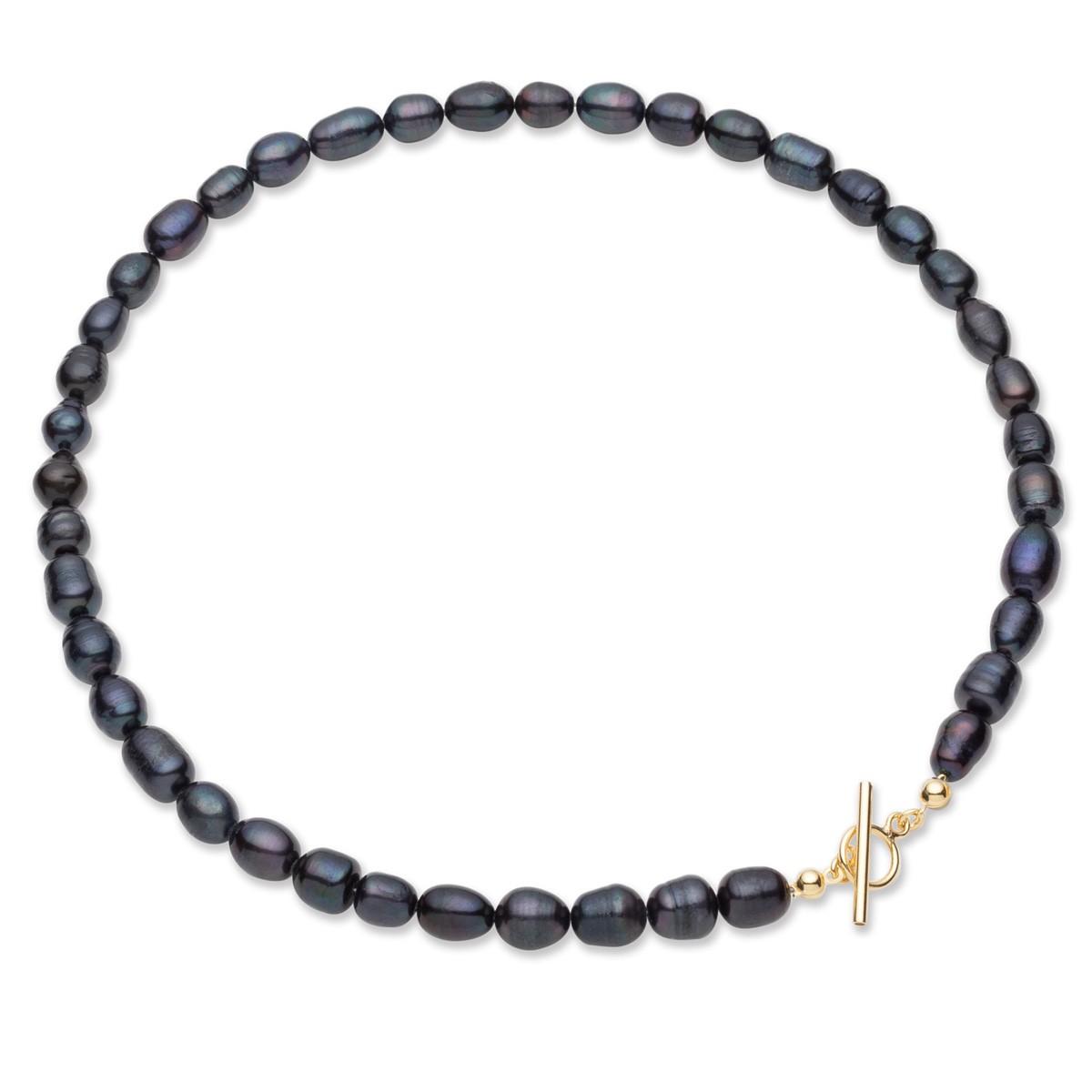 Weiße Perlenkette, Sterlingsilber 925