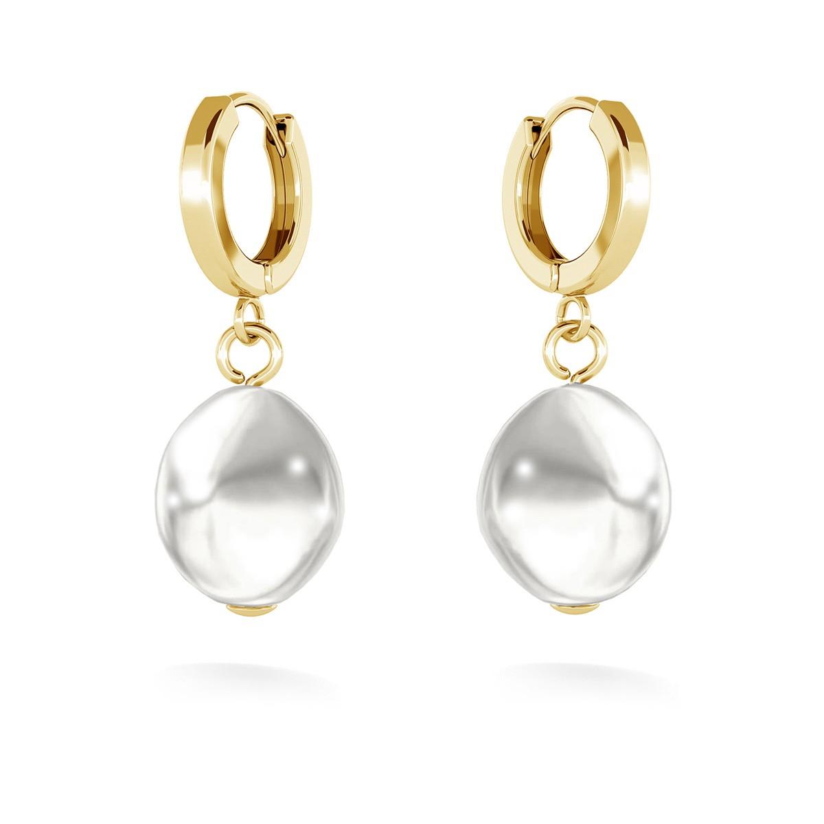 Boucles d'oreilles avec perles, MON DÉFI argent 925