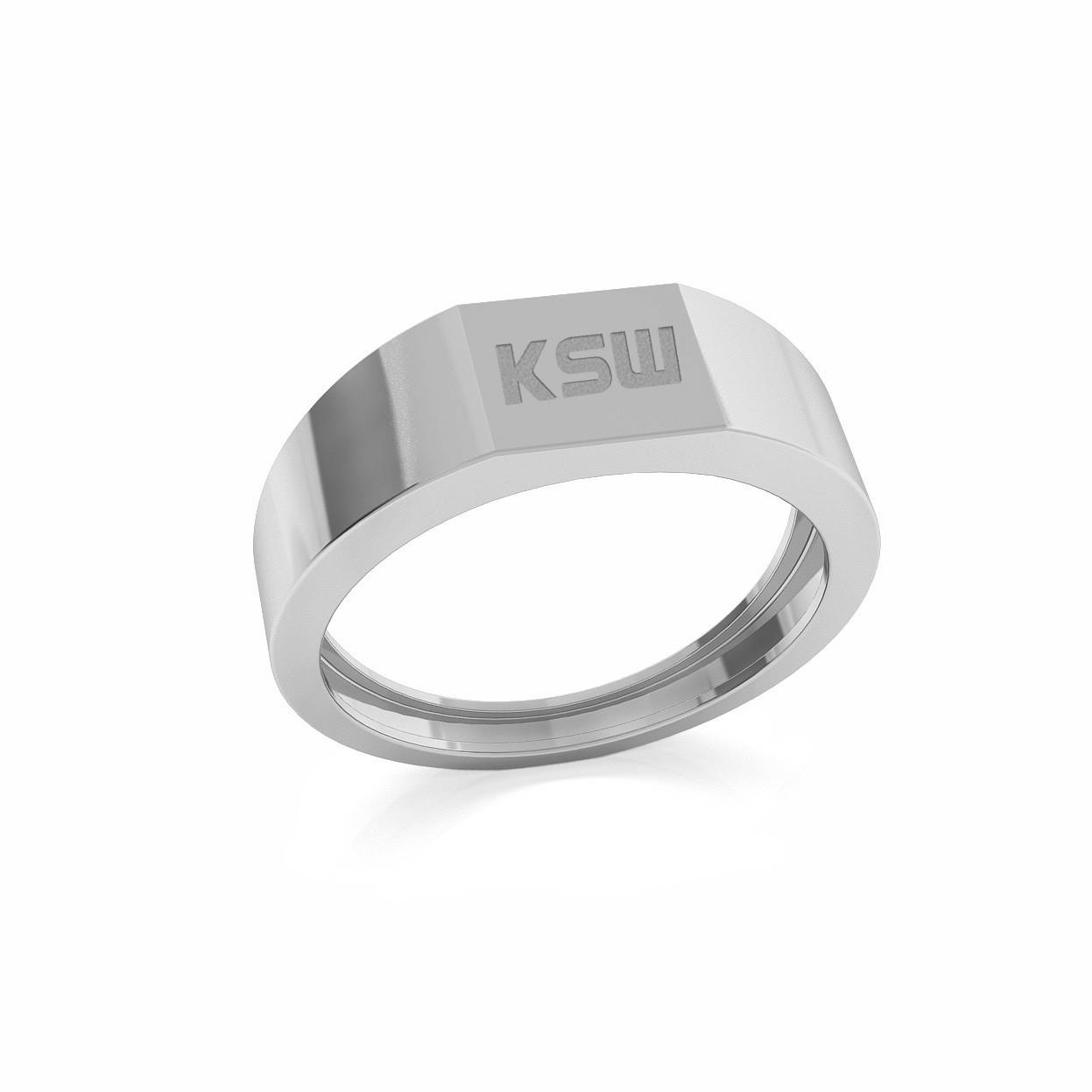 Sygnet z logo KSW, srebro 925