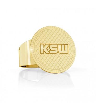 Okrągły sygnet z logo KSW, srebro 925