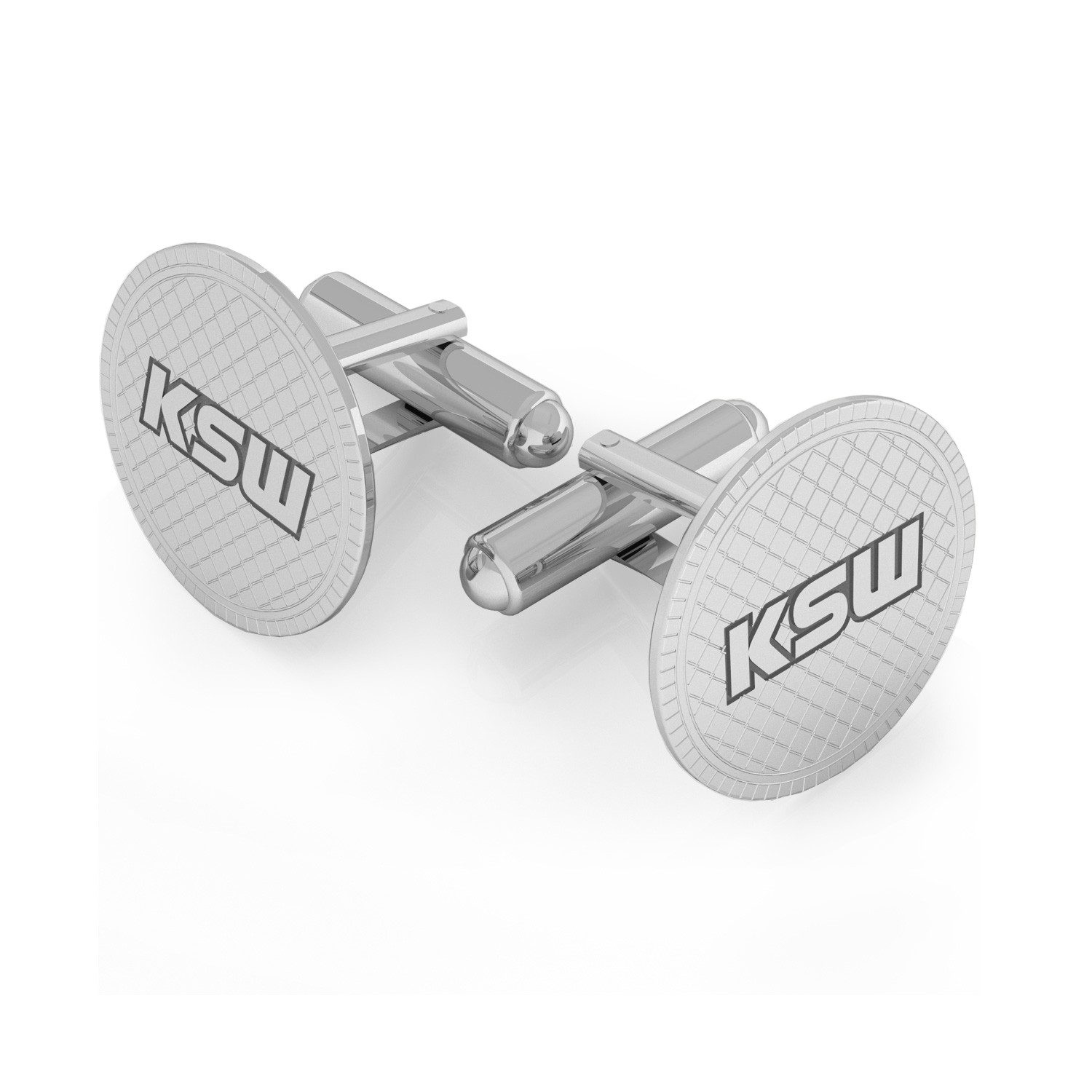 Square cufflinks with engrave