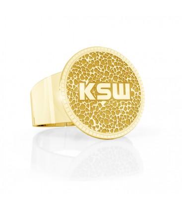 Sygnet ze wzorem, logo KSW, srebro 925