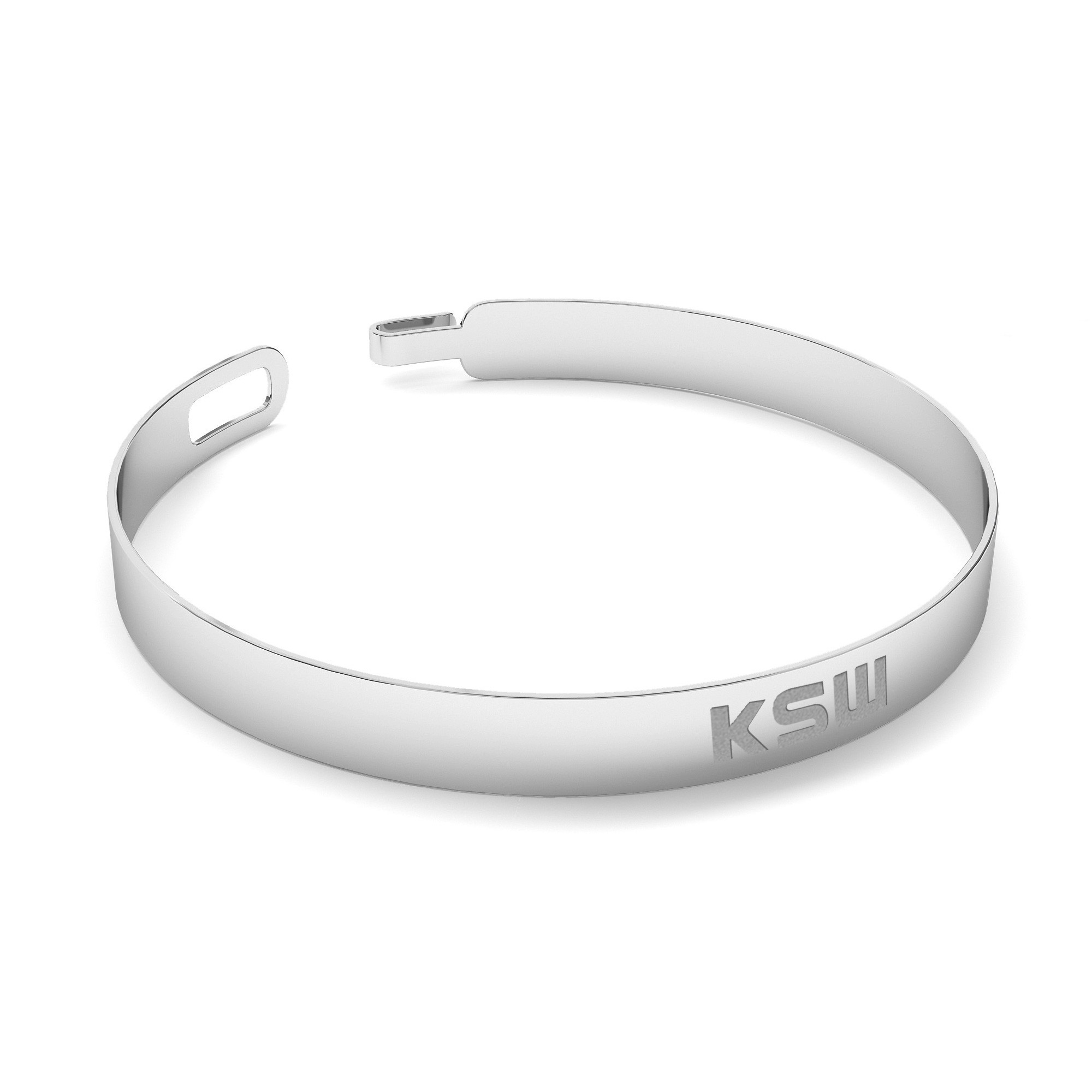 Silver bangle with KSW sign, silver 925