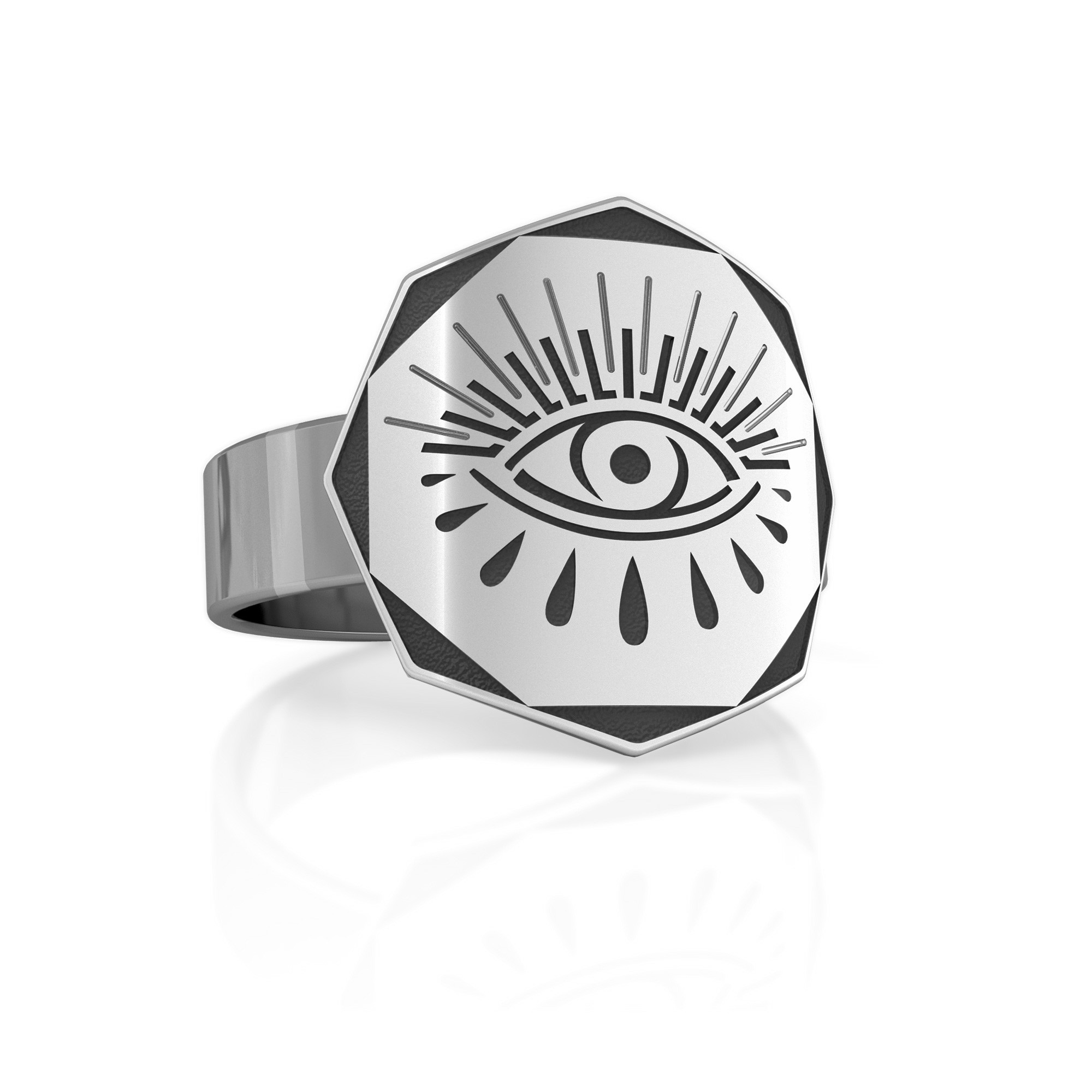 Srebrny sygnet oko Horusa, MON DÉFI, 925