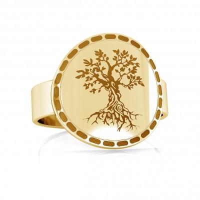 Srebrny pierścionek drzewo życia 925