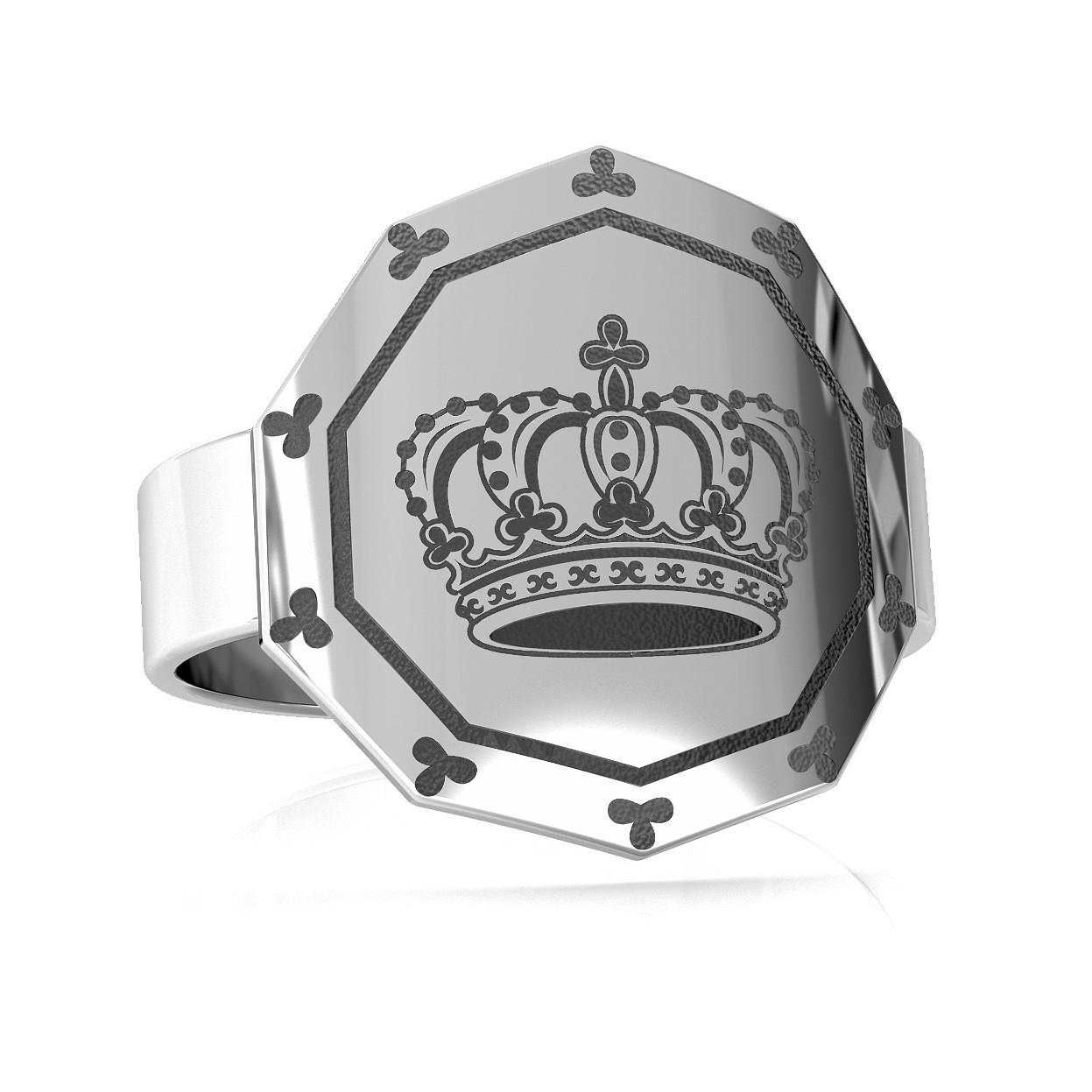 Srebrny pierścionek korona 925