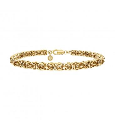 Ręcznie składany gruby choker łańcuszek bizantyna splot królewski, srebro 925