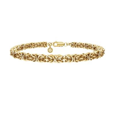 Ręcznie składany choker łańcuszek bizantyna splot królewski 925