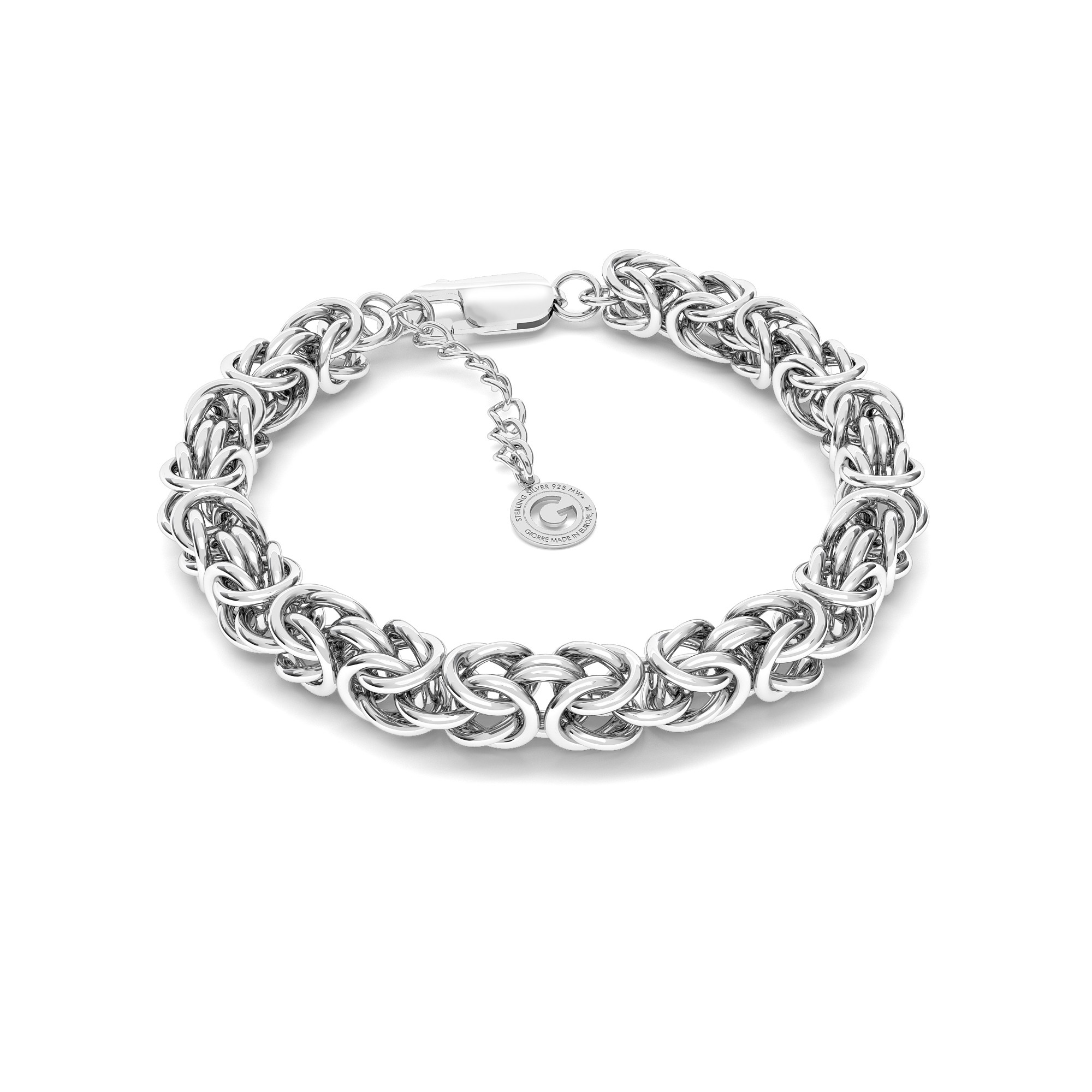 Silver bracelet royal nahd made chain sterling silver 925