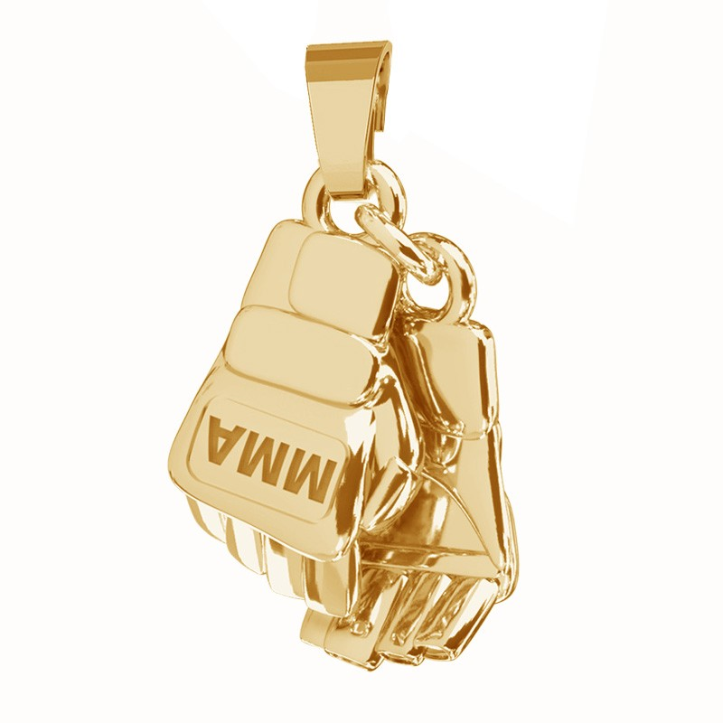 Zawieszką rękawice bokserskie MMA, pancerka, srebro 925