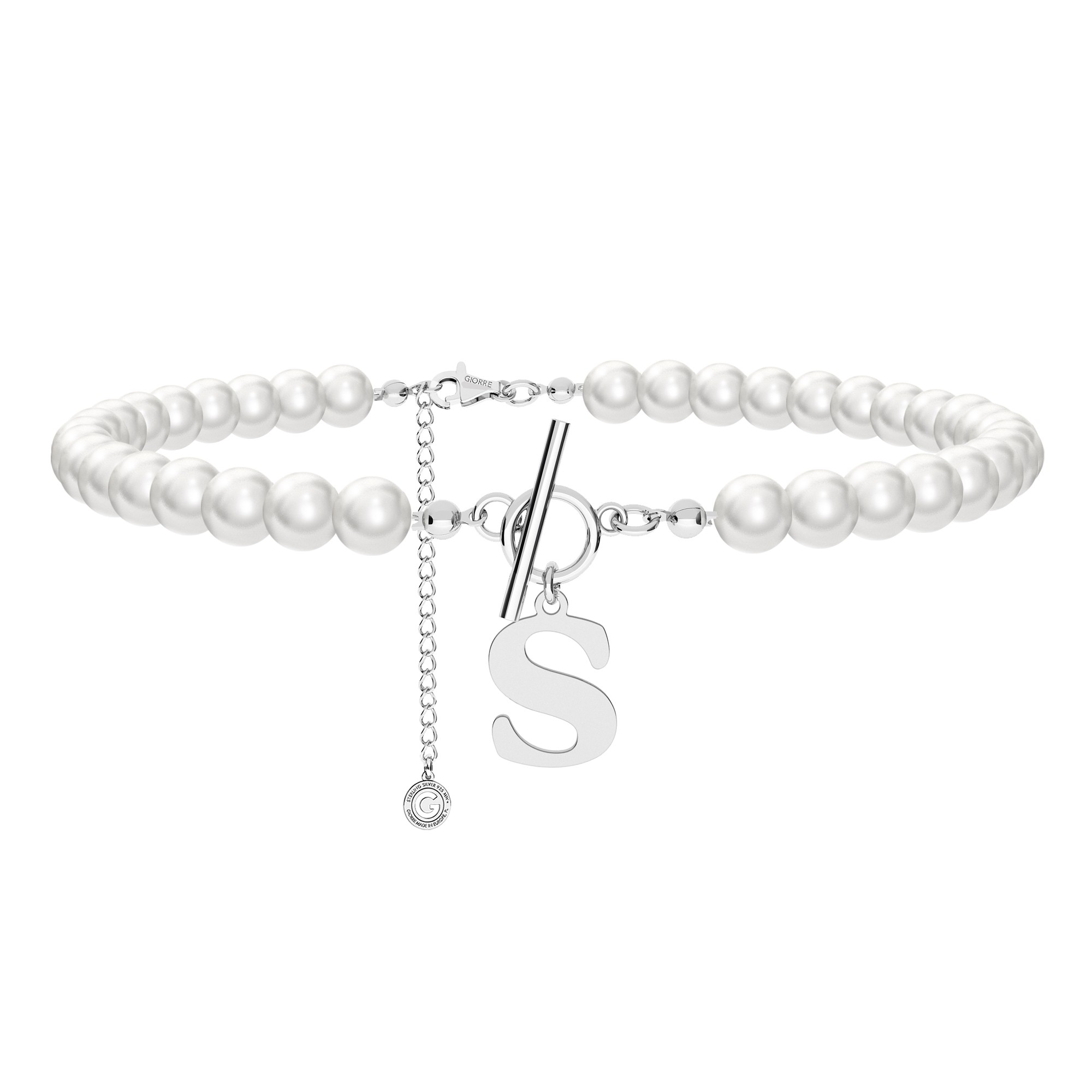 Pearls choker with coin, Silver 925