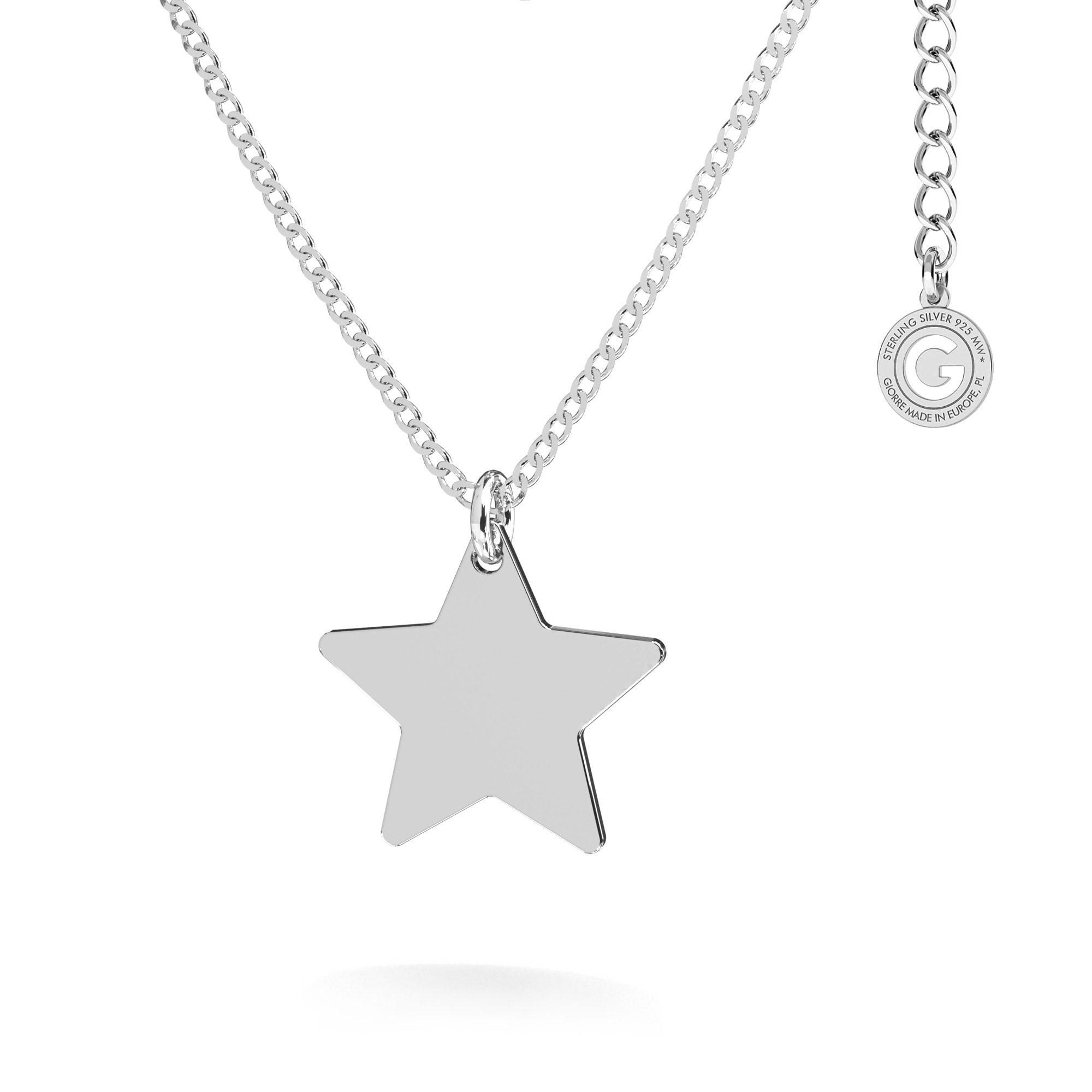 Srebrny naszyjnik gwiazdka blaszka MON DÉFI, srebro 925