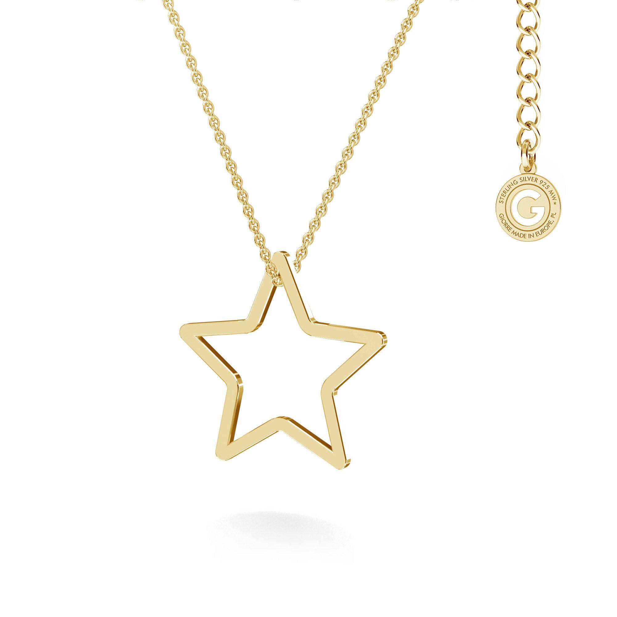 Naszyjnik ażurowa gwiazda, MON DÉFI srebro 925