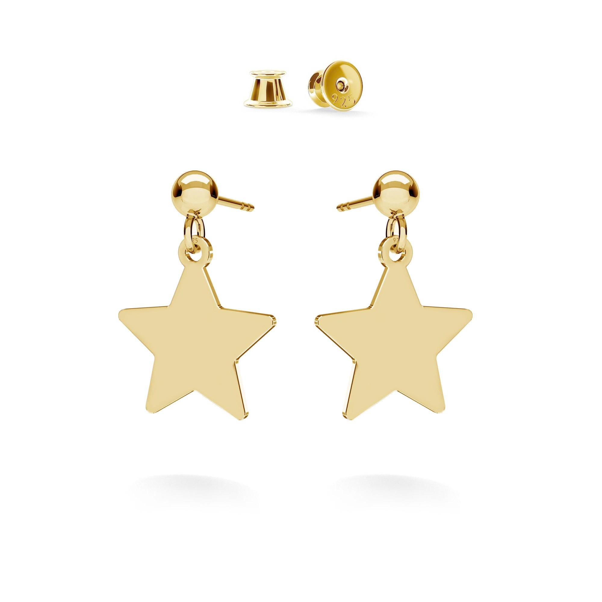 Star drop earrings MON DÉFI, silver 925