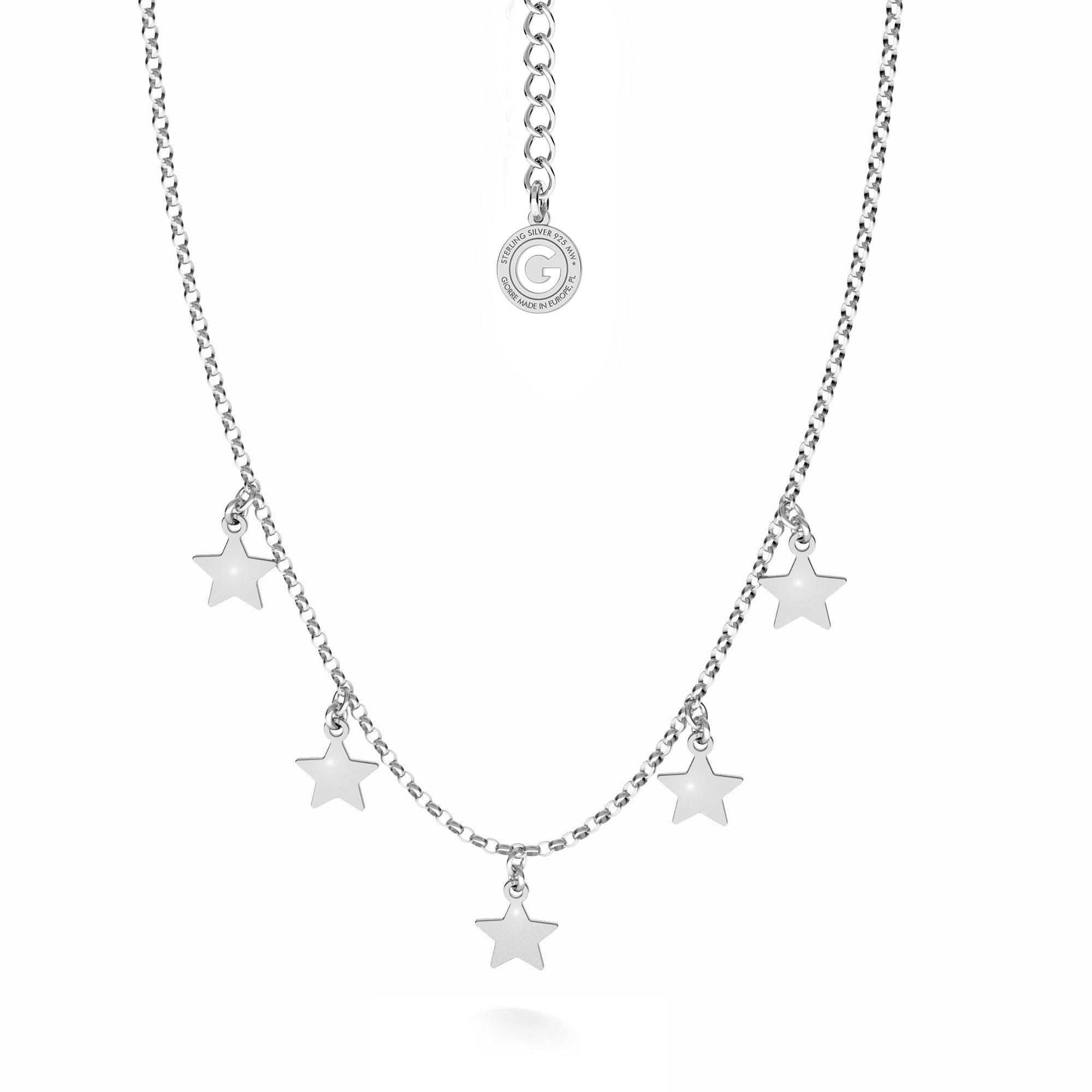 Silver star necklace MON DÉFI, silver 925