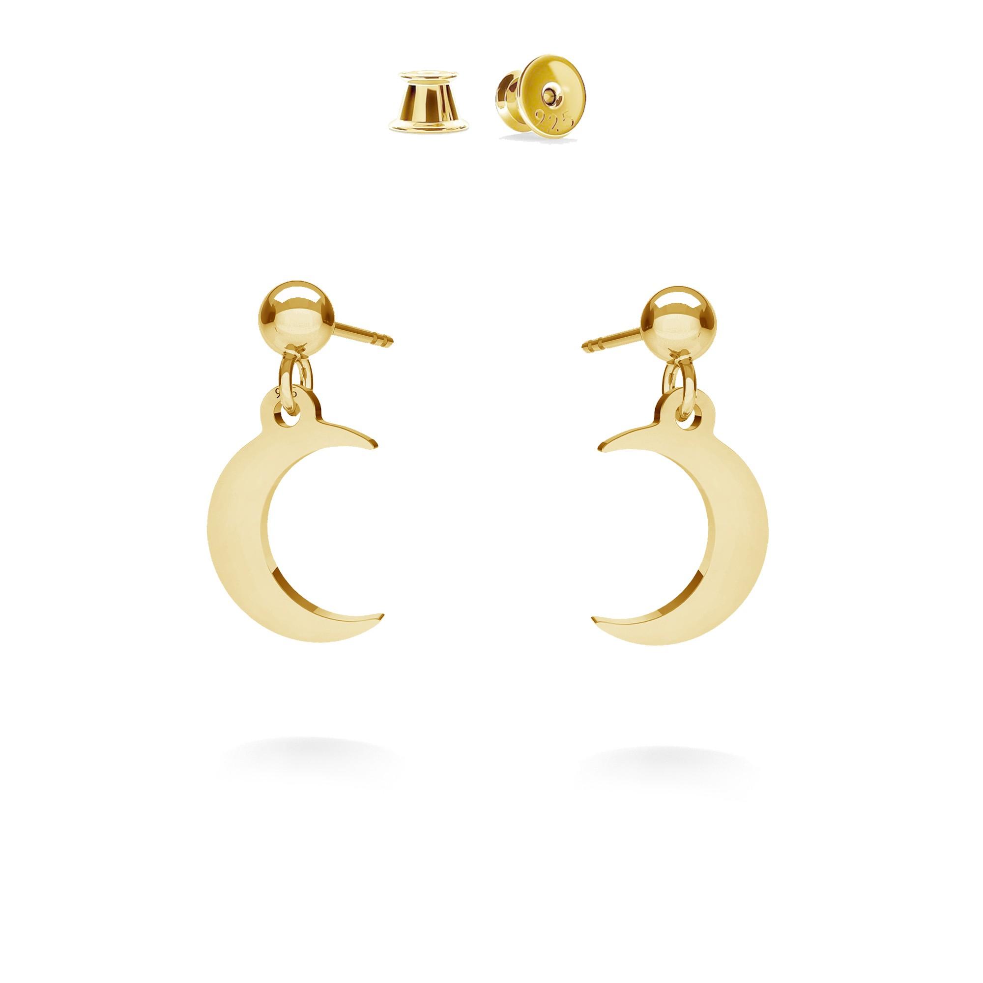 Small star drop earrings MON DÉFI, silver 925