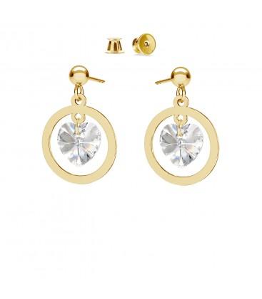 Pendientes de plata 925 con corazónes de cristales Swarovski, MON DÉFI