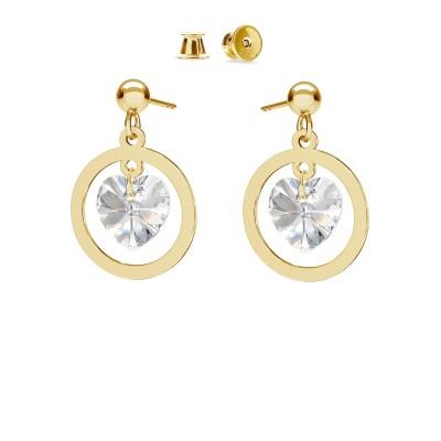 Goccia di cristallo orecchini argento 925