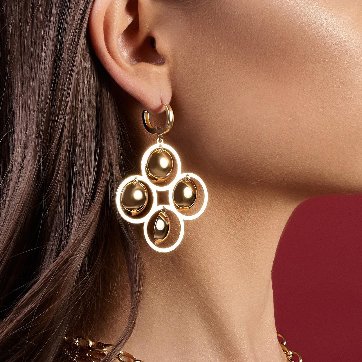 Long romb earrings sterling silver 925