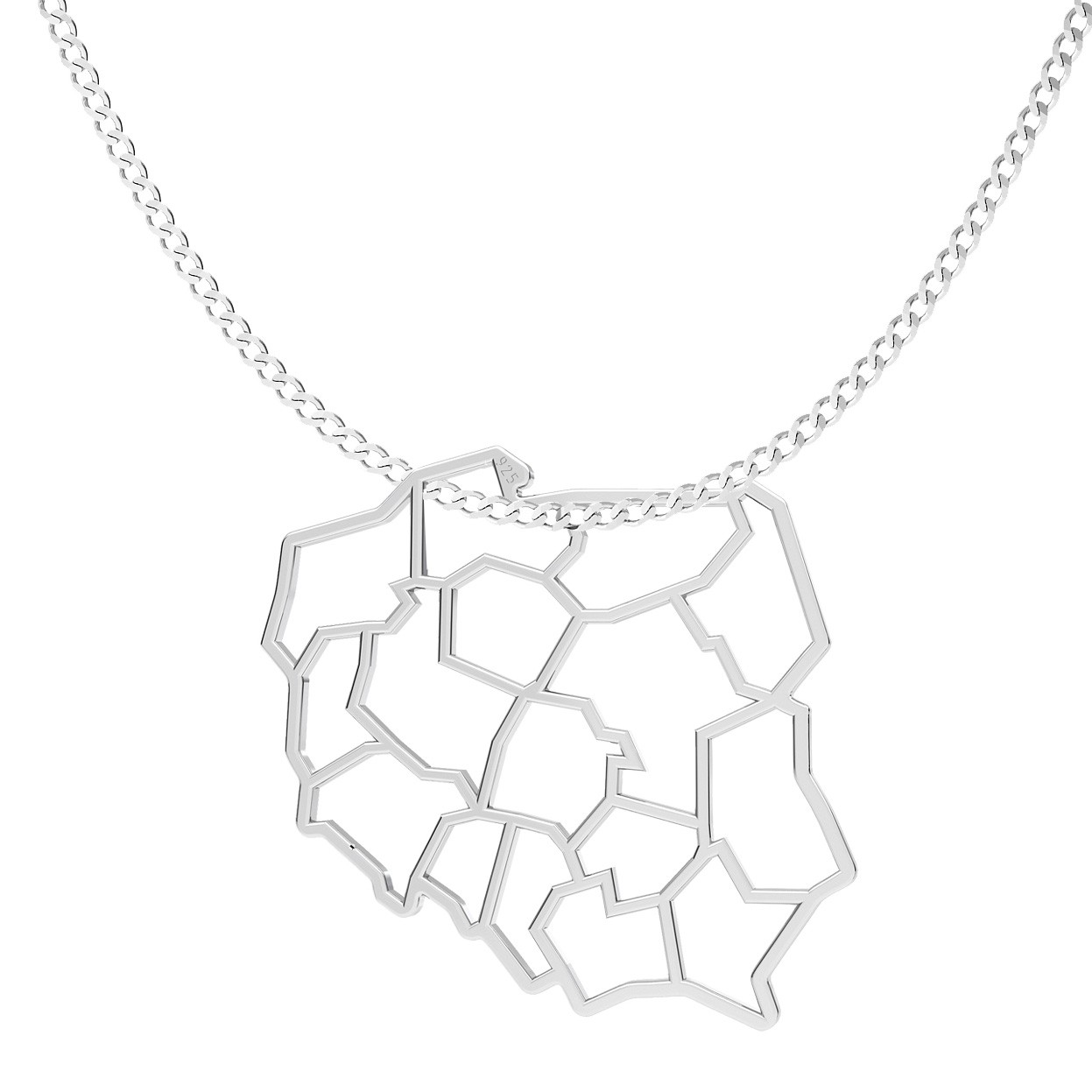 Dumbbell necklace sterling silver 925
