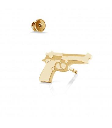 Beretta gun earring, silver 925