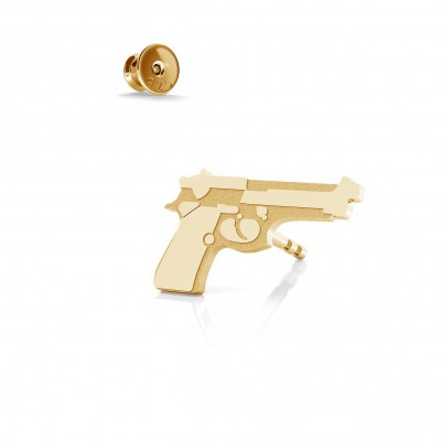 Beretta gun earrings, silver 925