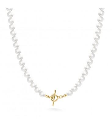 Długi perłowy naszyjnik do podwieszania charmsów, srebro 925
