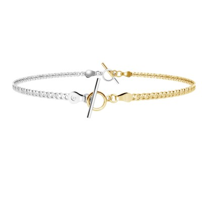 Choker lub bransoletka z dwóch łańcuszków typu Tygrysie oko srebro 925