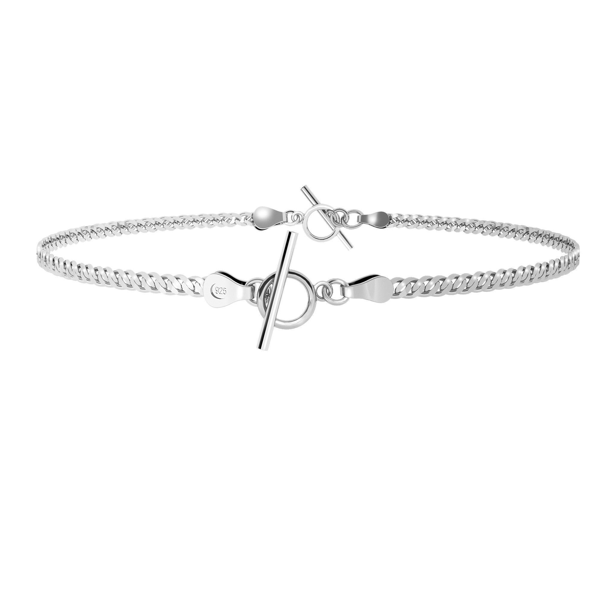 Choker or bracelet, chain sterling silver 925