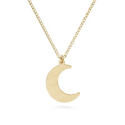 Srebrny naszyjnik księżyc, srebro 925 satynowane