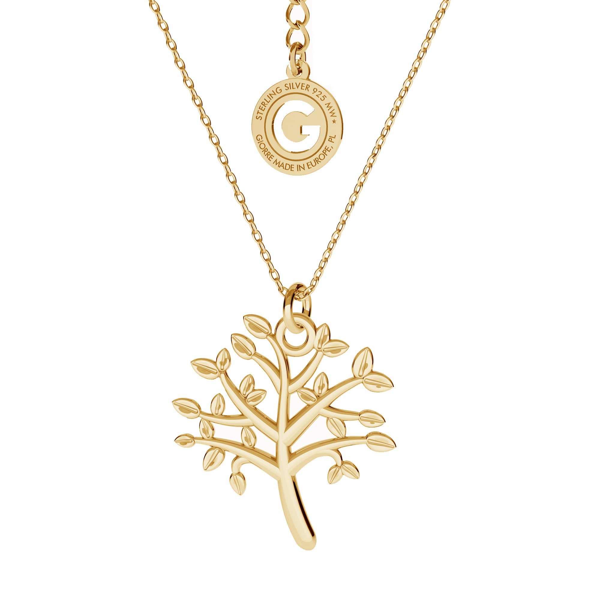 Tree of life necklace sterling silver 925