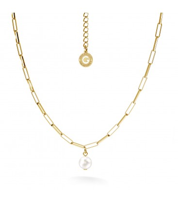Collana perla irregolare argento 925