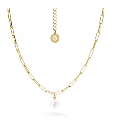 Collar perla irregular plata 925