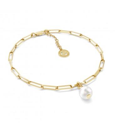 Braccialetto perla irregolare argento 925