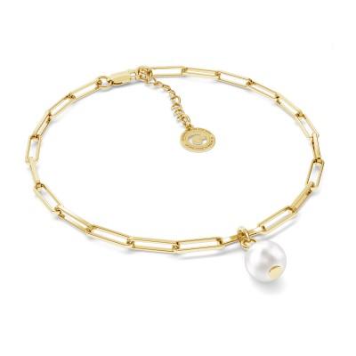 Unregelmäßige Perle halskette silber 925