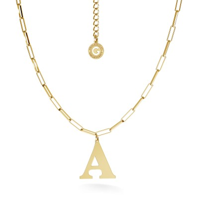Bracelet with letter, sterling silver 925