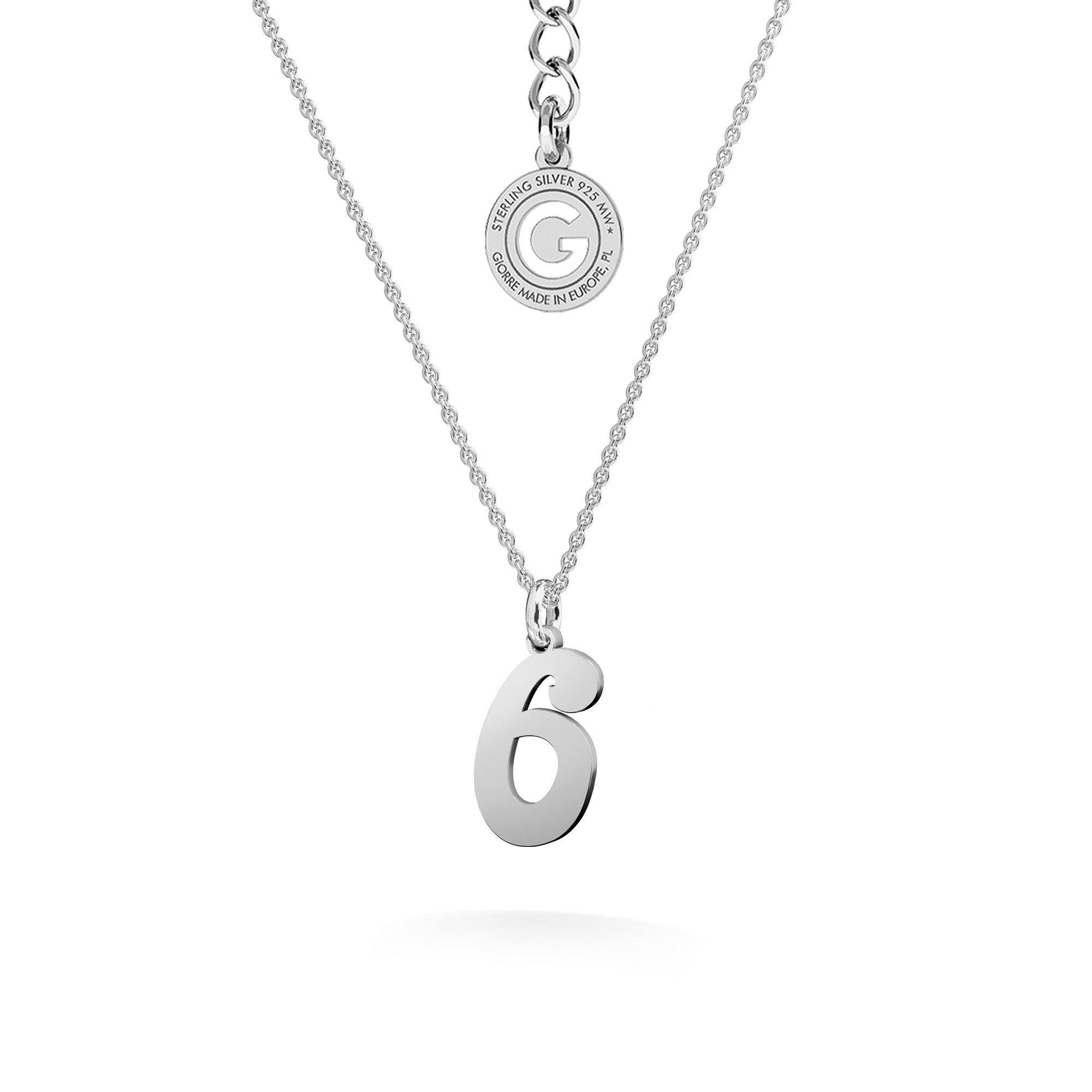 Necklace with letter, sterling silver 925
