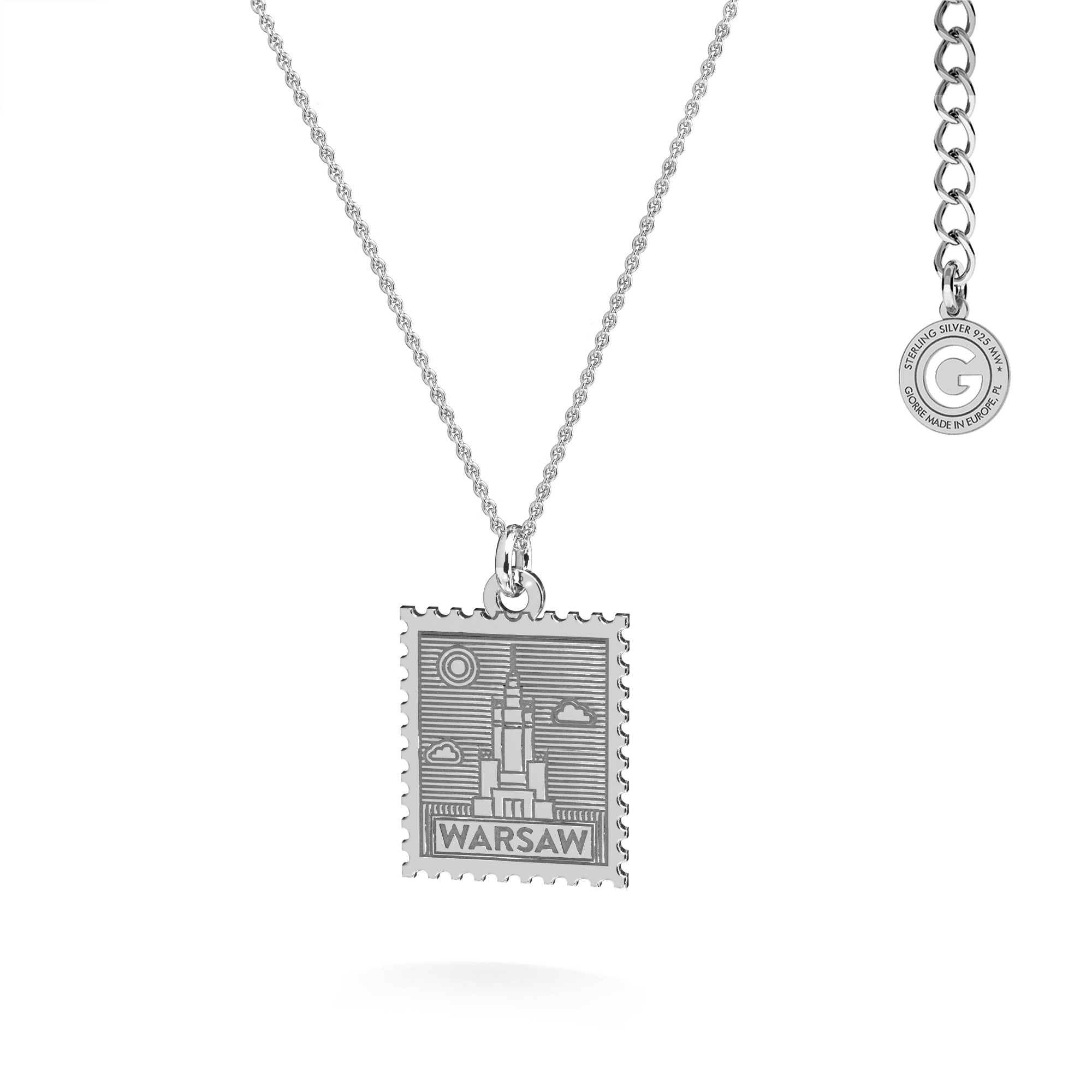 Letter necklace sterling silver 925