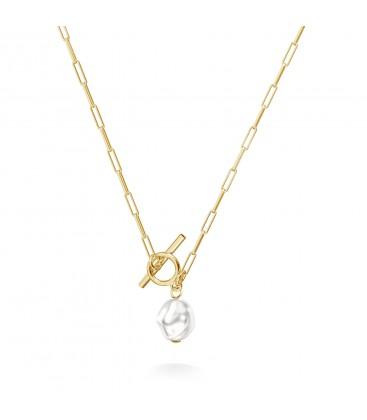 Choker perla irregolare argento 925