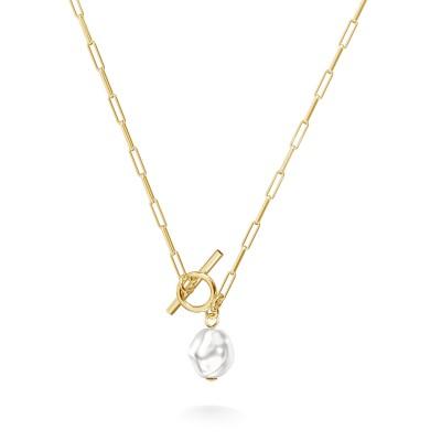 Srebrny choker z perłą do wpinania charmsów, srebro 925
