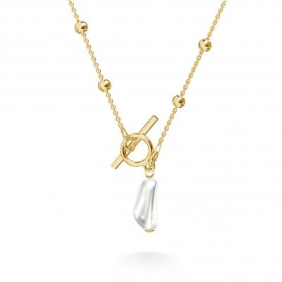 Choker perla irregular plata 925