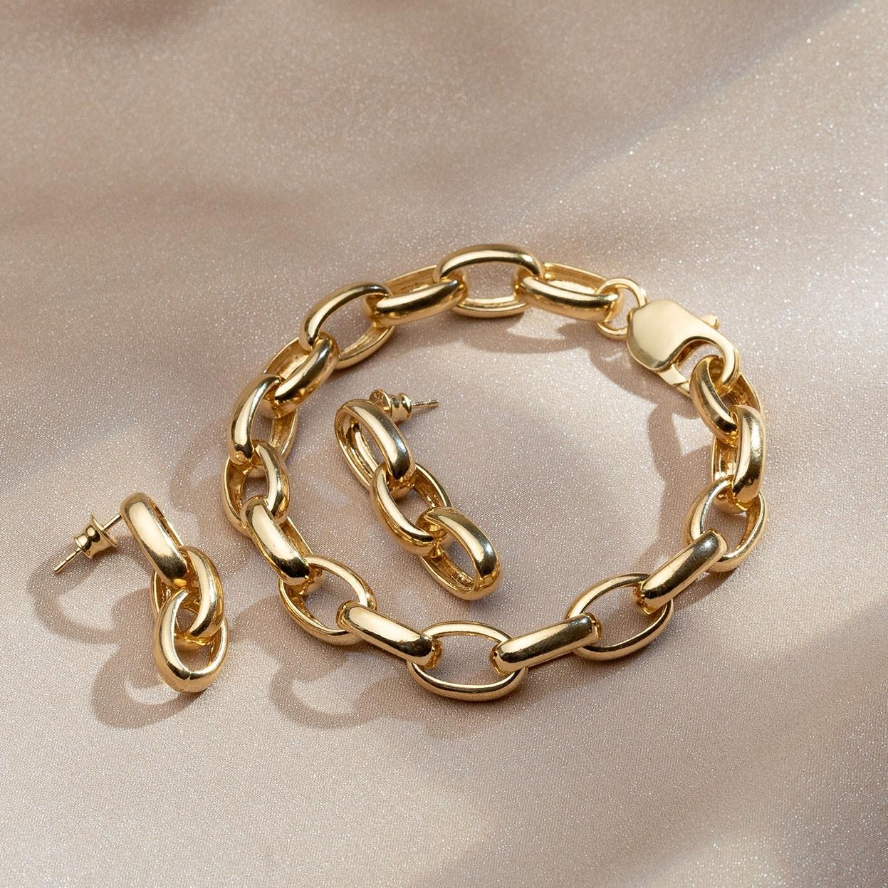 Srebrny gruba bransoletka polerowana 925