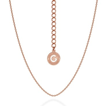 LIGHT SILVER NECKLACE 45-55 CM, GOLD PLATED (PINK GOLD)