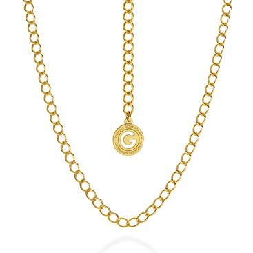 SILVER NECKLACE ROMBO 55-65 CM, GOLD PLATED (YELLOW GOLD)
