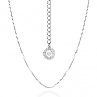 LIGHT SILVER NECKLACE 55 CM, RHODIUM PLATED